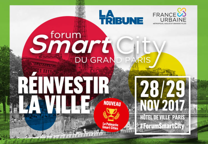 Participez au Forum Smart City Paris 2017 les 28 et 29 novembre prochains